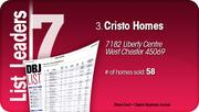 Cristo Homes is the No. 3 Dayton-area home builder.