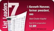 Kenneth Hanover is the No. 3 Dayton-area hospital executive compensation.