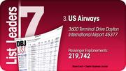 US Airways is the No. 3 Dayton-area busiest passenger airline.