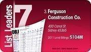 Ferguson Construction Co. is the No. 3 Dayton-area commercial construction company.