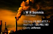 W H Sammis is the No. 3 worst facility for toxic air pollution in Ohio.