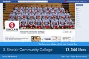 Sinclair Community College's page focuses more heavily on recruitment, often posting articles about classes, campus information, and the value of higher education.