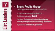 Bruns Realty Group is the No. 4 Dayton-area commercial real estate firm.