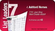 Ashford Homes is the No. 4 Dayton-area home builder.