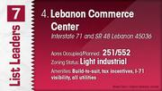 Lebanon Commerce Center is the No. 4 Dayton-area industrial park.