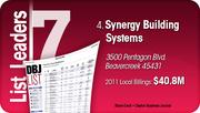Synergy Building Systems is the No. 4 Dayton-area commercial construction company.