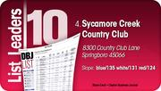 Sycamore Creek Country Club is the No. 4 Dayton-area Private Golf Course.