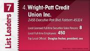 Wright-Patt Credit Union Inc. is the No. 4 Dayton-area stock brokerage.