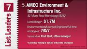 AMEC Environment & Infrastructure Inc. is the No. 5 Dayton-area environmental engineering firm.