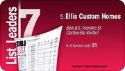 Ellis Custom Homes is the No. 5 Dayton-area home builder.