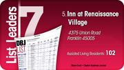 Inn at Renaissance Village is the No. 5 Dayton-area assisted living community.