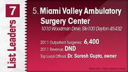 Miami Valley Ambulatory Surgery Center is the No. 5 Dayton-area outpatient surgery center.