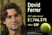 David Ferrer is ranked No. 5 for total prize money.