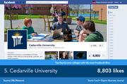 Cedarville University's Facebook is much more conversational, and frequently posts pictures and updates on things to do around campus.