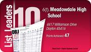 Meadowdale High School is tied for the No. 6 Dayton-area LEED certified project.