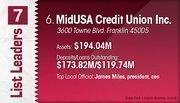 MidUSA Credit Union Inc. is the No. 6 Dayton-area credit union.