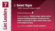 Select Signs is the No. 6 Dayton-area sign company.