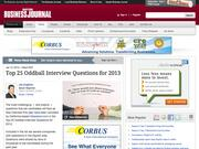 6. Top 25 Oddball Interview Questions for 2013