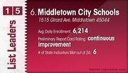 Middletown City Schools is the No. 6 Dayton-area public school district.