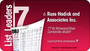 Russ Hadick and Associates Inc. is the No. 6 Dayton-area staffing company.