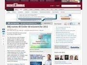 6. DBJ names 40 Under 40 winners for 2012