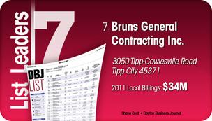 Bruns General Contracting Inc. is the No. 7 Dayton-area commercial construction company.