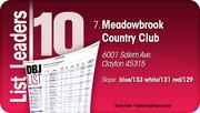 Meadowbrook Country Club is the No. 7 Dayton-area Private Golf Course.