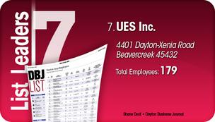UES Inc. is the No. 7 Dayton-area woman-owned company.