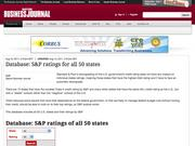 7. Database: S&P ratings for all 50 states