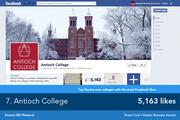 Despite its small student body, Antioch College maintains a very active Facebook page.