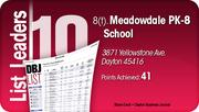 Meadowdale PK-8 School is tied for the No. 8 Dayton-area LEED certified project.