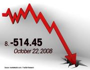 October 22, 2008 was the No. 8 worst day for the Dow.