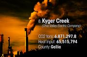 Kyger Creek is the No. 8 worst facility for toxic air pollution in Ohio.