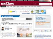 9. Top 25 Oddball Interview Questions for 2013