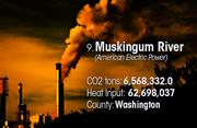 Muskingum River is the No. 9 worst facility for toxic air pollution in Ohio.