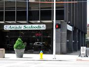 Arcade Seafoods111 W. First Street No longer located in the Arcade, but still serving seafood for dine in or carry out, this casual joint has low prices and a wide variety on its menu.