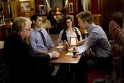 (l to r) Philip Seymour Hoffman, Max Minghella, Marisa Tomei and Ryan Gosling in Columbia Pictures' IDES OF MARCH.