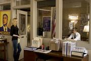Evan Rachel Wood (left) and Ryan Gosling in Columbia Pictures' IDES OF MARCH.