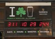 The Dublin Pub has a year-round countdown clock ticking away the months, weeks, days, hours and minutes until it is St. Patrick's Day. The pub opens before dawn on the Irish holiday.