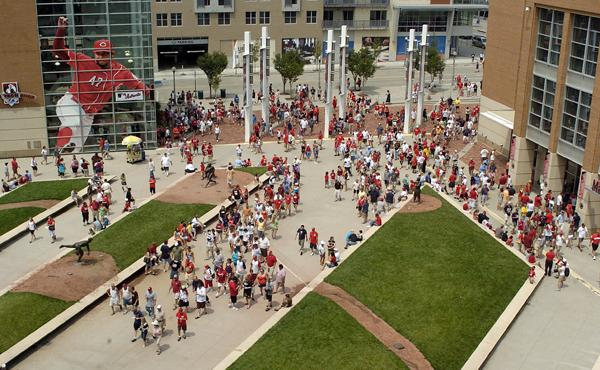 The Cincinnati Reds closed the home portion of the 2011 season by topping the 2.2 million mark.