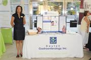 Attendees at the Healthiest Employers in Dayton awards banquet also had the opportunity to visit display booths with information about health topics, including this display by Dayton Gastroenterology Inc.