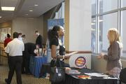 College students meet with Dayton-area business leaders at the 20 By 20 Internship Fair that took place Wednesday afternoon at Fifth Third Field in downtown Dayton.