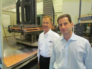 Process Equipment Co. Owner Albert Naggar (left) and CEO Bill Rosenberg in the company's plant. The manufacturer is expanding and plans to consolidate in Huber Heights.