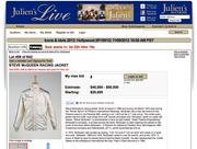 """Steve McQueen's Racing Jacket: You'll have to act fast to get this gem, because it's only for sale at the 2012 Icons and Idols Hollywood auction Nov. 9 and 10. Actor Steve McQueen wore this at his record breaking 1970 race at the Phoenix """"Winter Sprint."""" The starting bid is $40,000."""