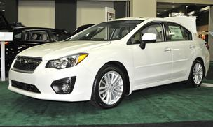The Subaru Impreza 2.0i at the Dayton International Auto Show this week.