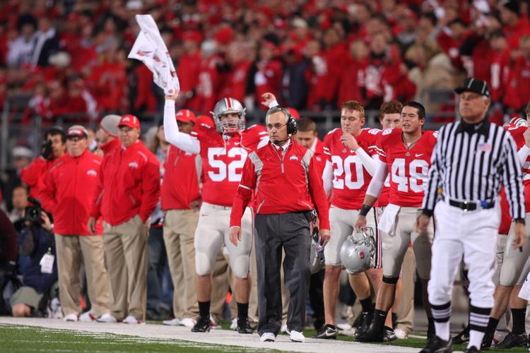 The NCAA leveled a 2012 post-season ban against the Ohio State Buckeyes stemming from a tattoos-for-memorabilia scandal and former Coach Jim Tressel's lying to the NCAA.