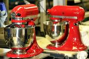 Mixers run along the assembly line at the KitchenAid factory in Greenville.