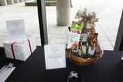 Gift baskets were among the items auctioned off.