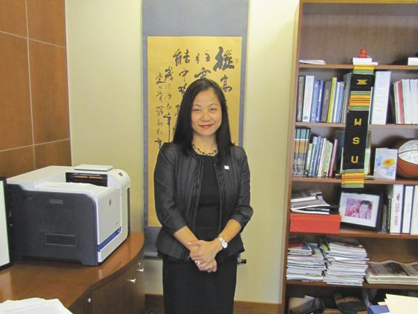 Business Training: Joanne Li is the dean of Wright State University's Raj Soin College of Business.