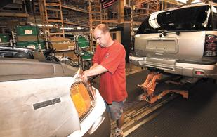 The automotive sector still represents a large chunk of the manufacturing jobs in the Dayton area despite General Motors' closing of its SUV assembly plant in Moraine in 2008.